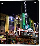 Pantages Theater Acrylic Print