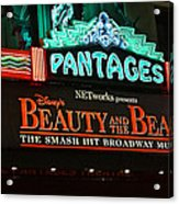 Pantages Theather Marquie Acrylic Print