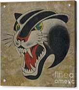 Traditional Tattoo Panther  Acrylic Print