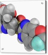 Pantoprazole Drug Molecule Acrylic Print