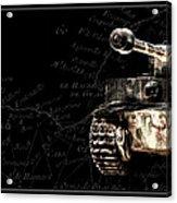 Panzer Tiger I Front Bk Bg Acrylic Print