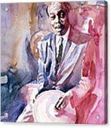 Papa Jo Jones Jazz Drummer Acrylic Print by David Lloyd Glover