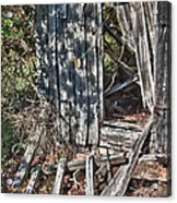 Papa Sandy's Storage Shed Acrylic Print by James Woody