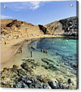 Papagayo Beach On Lanzarote Acrylic Print