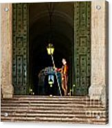 Papal Swiss Guard At The Vatican Museums Acrylic Print