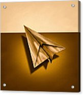 Paper Airplanes Of Wood 1 Acrylic Print