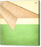Paper Airplanes Of Wood 17 Acrylic Print