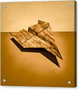 Paper Airplanes Of Wood 5 Acrylic Print