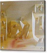 Paper Architecture Acrylic Print