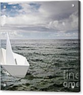 Paper Boat Acrylic Print