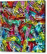 Paper Clips Acrylic Print