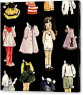 Paper Doll Amy Acrylic Print by Marilyn Smith