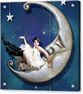 Paper Moon Acrylic Print by Linda Lees