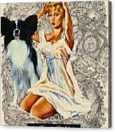 Papillon Art - Una Parisienne Movie Poster Acrylic Print