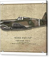 Pappy Boyington P-40 Warhawk - Map Background Acrylic Print