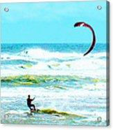 Para-surfer   Acrylic Print by CHAZ Daugherty