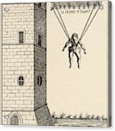 Parachute At Venice, Enabling  Descent Acrylic Print
