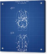 Parachute Harness Patent From 1922 - Blueprint Acrylic Print