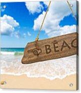 Paradise Beach Sign Algarve Portugal Acrylic Print