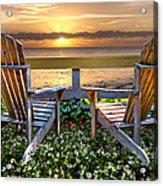 Paradise Acrylic Print by Debra and Dave Vanderlaan
