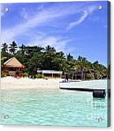 Paradise For Dream Vacation Acrylic Print by Lars Ruecker