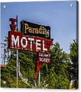 Paradise Motel Acrylic Print