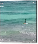 Paradise Paddle Boarding Acrylic Print