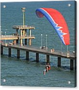 Paraglider Near Bourgas Acrylic Print