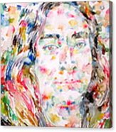 Paramahansa Yogananda Watercolor Portrait Acrylic Print