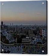 Parc Guell At Sunrise Acrylic Print