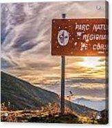 Parc Natural De Corse In The Balagne Region Of Corsica Acrylic Print