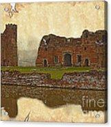 Parchment Texture Kirby Muxloe Castle Acrylic Print