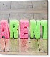 Parents Acrylic Print by Tom Gowanlock