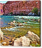 Pariah Riffle Near Lee's Ferry In Glen Canyon National Recreation Area-arizona Acrylic Print