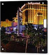 Paris And Planet Hollywood - Las Vegas - 01131 Acrylic Print