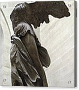 Paris Angel Louvre Museum- Winged Victory Of Samothrace Acrylic Print