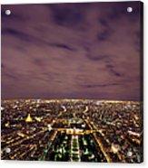 Paris At Night  Acrylic Print
