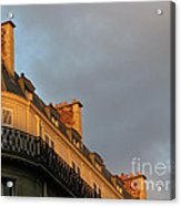Paris At Sunset Acrylic Print