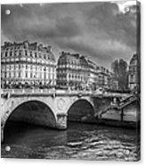 Paris Black And White Acrylic Print
