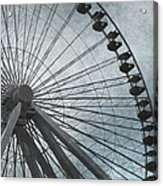 Paris Blue Ferris Wheel Acrylic Print