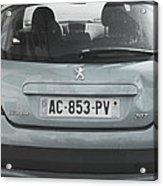 Paris Blue Peugeot Acrylic Print