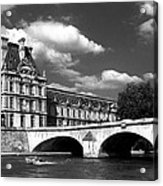 Paris Building In Bw Acrylic Print