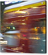 Paris Bus Pont Au Change  Or One Half Step Away From The Hereafter Acrylic Print