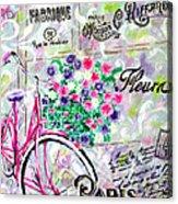 Paris By Jan Marvin Acrylic Print