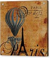 Paris By Postcard Acrylic Print