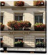 Paris Cartier Window Boxes - Paris Cartier Windows And Flower Boxes - Cartier Paris Building  Acrylic Print