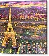 Paris City Of Lights Acrylic Print