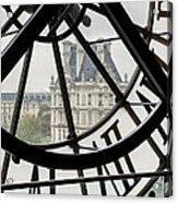 Paris Clock Acrylic Print