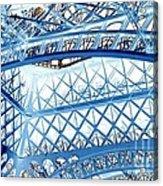 Paris Design In Blue Acrylic Print