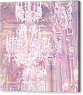 Paris Dreamy Ethereal Chandelier Opera House - Paris Lavender Pink Dreamy Chandelier Opera House Acrylic Print by Kathy Fornal